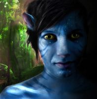 Person to Na'vi - Avatar by ElaineG