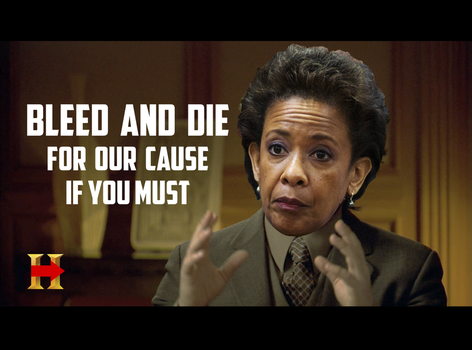 Loretta Lynch - March, Bleed And Die For Our Cause by CaciqueCaribe