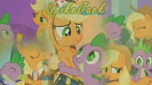 SpikeJack/AppleSpike Wallpaper by DrakkenlovesShego12
