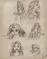 Rapunzel Sketches 2 by landesfes