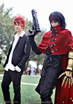 Vincent Valentine and Reno FFAC cosplay by AlysonTabbitha