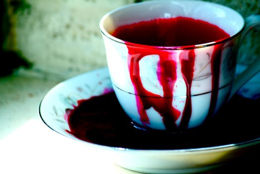 That Bloody Tea Cup by RosieHoliday23