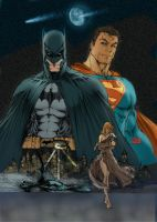 Batman _ Superman By MT by commanderlewis