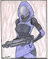 Tali' Zorah Vas Normandy by hillary86