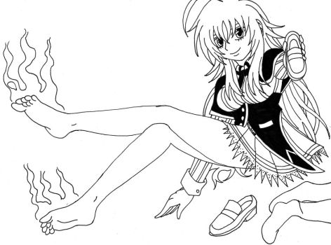 Rias Gremory' smelly feet by Dafootclan