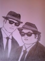 Blues Brothers by TheHedgehogBlue