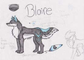 Blaire's New Reference Sheet by LeoSayaka