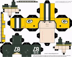 Jordy Nelson Packers Cubee by etchings13