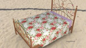 Ready ! mcjPeachyBed Poser/Daz prop by mCasual