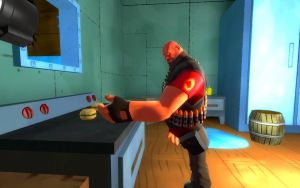 Heavy is cooking a burger by Super-fire-Mario