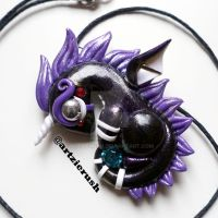FNAF Puppet Inspired Dragon Pendant by ArtzieRush