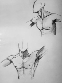 Male body in motion study  by Mickelmus