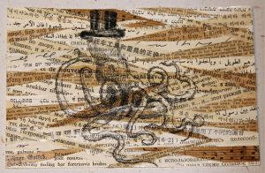 Octopus in a Top Hat Postcard by KatarinaNavane