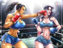 Dae Park vs Ivana Payne _ Commission 2 by Sano-BR
