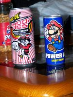 Can of Whoop Ass and Power Up by Thora-T