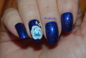 Blue rose (on my mother) by Angelik23