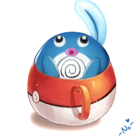 Poliwag Tea Cup by guiltone