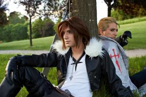 Seifer Cosplay and Squall by DocSkavenger
