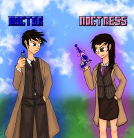 Doctor and Doctress (painted) by jeoong94