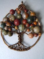 Contemporary Tree Of Life Jasper Pendant by A-Sharper-Spectrum
