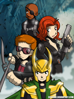 Avengers Assemble Group 2 by desfunk