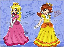 Mario: Peach and Daisy by saiiko