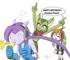 Freedom Planet 1 year old!? Rushed fanart Go go! by Gx3RComics