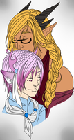 AW: Theseus and Kasen by RoyalSilverOak