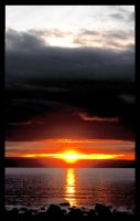 Sunset At Lake Taupo by The-Outlaw-Whitecrow