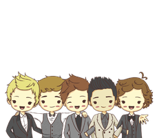 one direction caricatura png by tutosbyflor