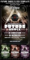 Future Shock Party-Club Flyer template by Hotpindesigns