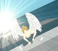 angels on roof tops by VampiresRomance