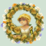 Rapunzel's braid of flowers by Irina-Ari