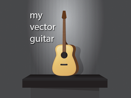my vector guitar by ahmed12