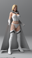 Tina Emma Frost Re-born Render (Draft 2) by bstylez