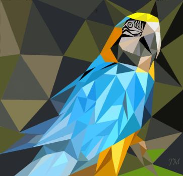Blue Parrot by Canadragon