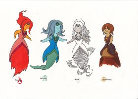 AT: Elemental Princesses~ by icepisces32