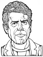 Anthony Bourdain Portrait by sammo371