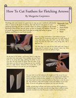 How to Cut Feathers for Fletching Arrows by Serikiyo