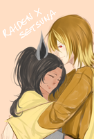 kiriban: raiden x setsuna by BottledWishes