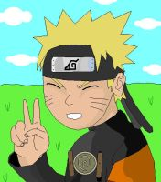 Naruto with background by madhouse1991
