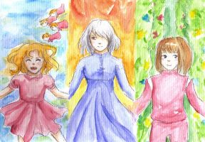 Ghibli Girls by lady-leliel
