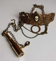Pirate steampunk necklace2 by Pinkabsinthe