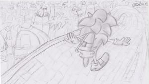 Sonic Drawing by BabyClassicSonic