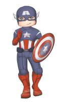 Captain America Sticker by ladyarrowsmith