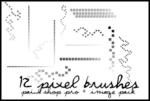 12 pixel brushes + image pack by veruca-veruca
