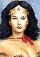 Lynda Carter miniature by whu-wei