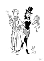 Constantine and Zatanna by BevisMusson