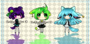 Chibi Batch 004 {closed] (one left) by TakkuNoTori