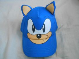 Sonic's Face Cap with Stuffed Ears by BoomSonic514